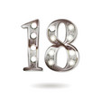 18 years anniversary celebration design vector image