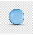 3D crystal glass blue sphere ball isolated vector image