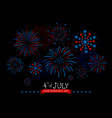 4th july usa independence day design vector image