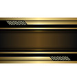 abstract gold banner black circuit cyber vector image
