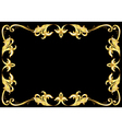 abstract gold frame vector image vector image