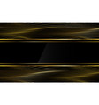 abstract luxury black banner gold thin line wave vector image