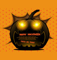 abstract pumpkin halloween background vector image vector image