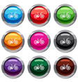 bicycle set 9 collection vector image vector image