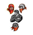 biker outlaw mascot collection vector image vector image