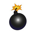 black old bomb vector image
