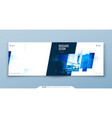 blue horizontal brochure cover template layout vector image