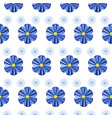 blue simple flowers seamless pattern vector image vector image