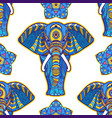 boho elephant pattern floral vector image vector image