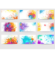 business cards templates made paint stains vector image