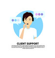 call center headset agent man client support vector image