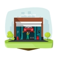 Car repair garage auto help service center vector image