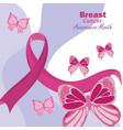 card of breast cancer awareness vector image vector image