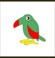 cartoon bird toucan vector image vector image