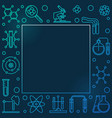 chemistry colored square frame in thin line vector image vector image