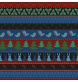 Christmas border seamless pattern vector image vector image