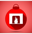 Christmas icon with the silhouette of a fireplace vector image vector image