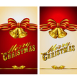 Christmas Menu Card Bells vector image vector image