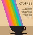 Coffee Cup Rainbow vector image vector image