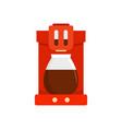 coffee machine icon flat style vector image vector image