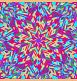 colorful geometrical tiled pattern mosaic vector image vector image