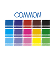 Common Color Tone vector image vector image