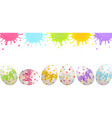 congratulatory easter banner with painted easter vector image vector image