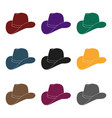 cowboy hat icon in black style isolated on white vector image