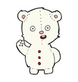 cute comic cartoon polar bear vector image vector image