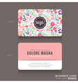 Cute Floral pattern Business card name card vector image vector image