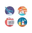 Dental clinic icons set vector image vector image