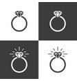 diamond ring icon flat graphic design vector image