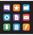 Digital flat design icons set vector image