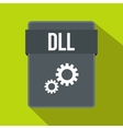 DLL file icon flat style vector image