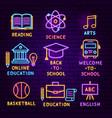 Education neon label set