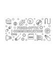 fiber-optic communication outline banner vector image vector image