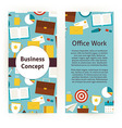 Flyer Template of Flat Design Business Concept and vector image