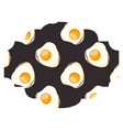 frame with eggs pattern background vector image vector image