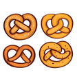 german pretzel icon set cartoon style vector image