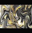 gold marbling texture design for poster brochure vector image vector image