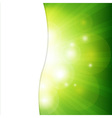 Green Background With Sunburst vector image vector image