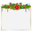 greeting card with traditional Christmas elements vector image