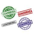 grunge textured gonorrhea stamp seals vector image vector image