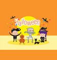 halloween day celebration concept design vector image