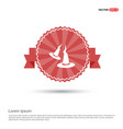 halloween witch hats icon - red ribbon banner vector image