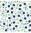 hand drawn polka dot seamless pattern random vector image