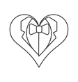 happy groom heart icon vector image vector image