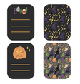 Happy Halloween greetings and invitation cards vector image vector image
