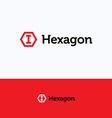 Hexagon cube logo vector image vector image