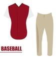 Isolated baseball uniform vector image vector image